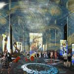 С помощью проекций и установки выставочных стендов Аркада на время превращается в настоящую художественную галерею, становится центром притяжения и культуры, а ожившие картины на стенах полу и  потолке добавляют экспрессии и динамики  пространству.